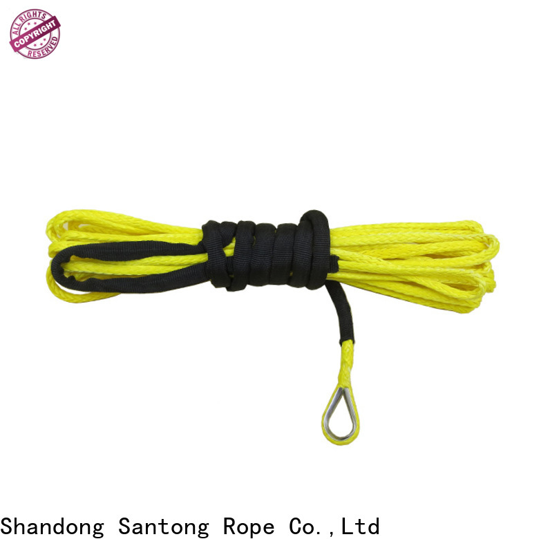 safety synthetic winch rope wholesale for vehicle