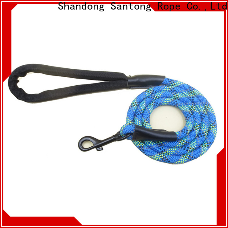 professional braided dog leash supplier for pet
