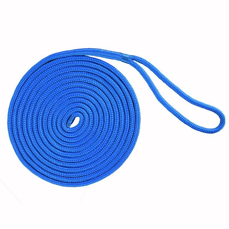 5/8''*35'blue color double braided nylon rope