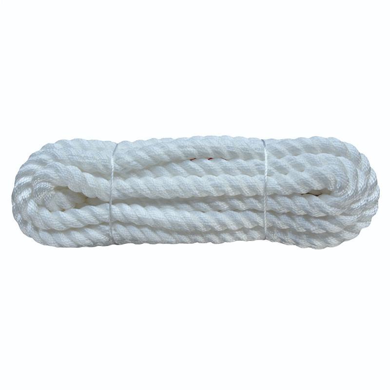 "5/8""*20' white 3 strand twisted nylon dock rope marine rope"