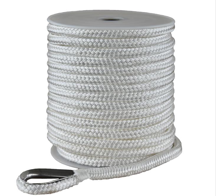 3/4*200ft white double braided nylon anchor rope