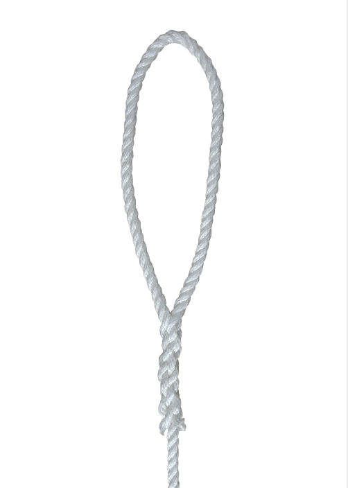 white 1/2*6 3-strand Twisted fender rope