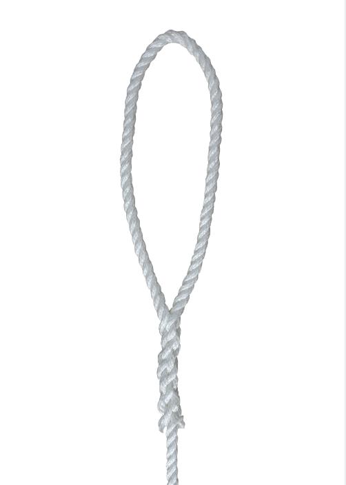 white 1/2*6 3-strand Twisted fender rope
