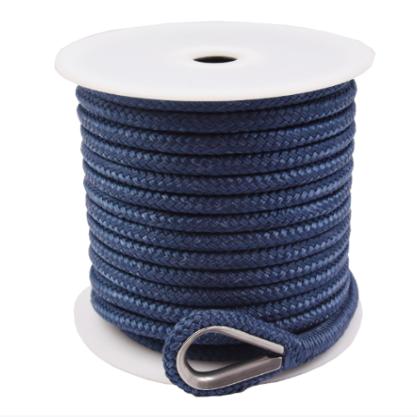 3/4*150' Navy blue Double Braided Nylon Anchor Rope