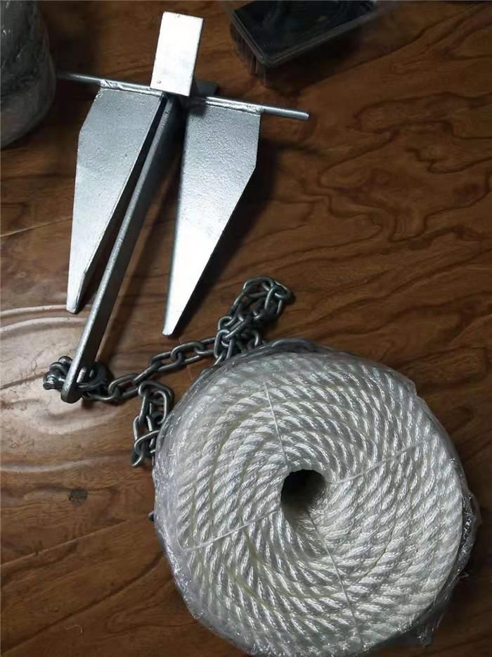 5/16*100ft nylon 3 strand boat mooring rope anchor kit
