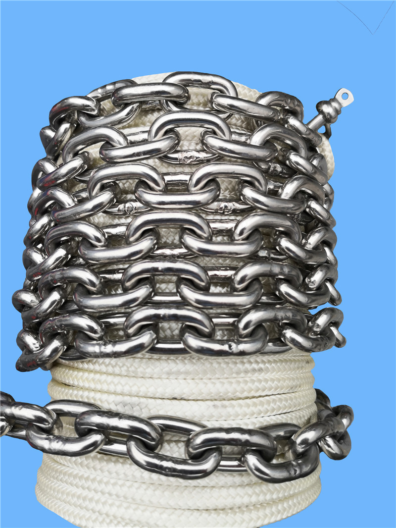 5/8*200ft double braid nylon anchor line with chain