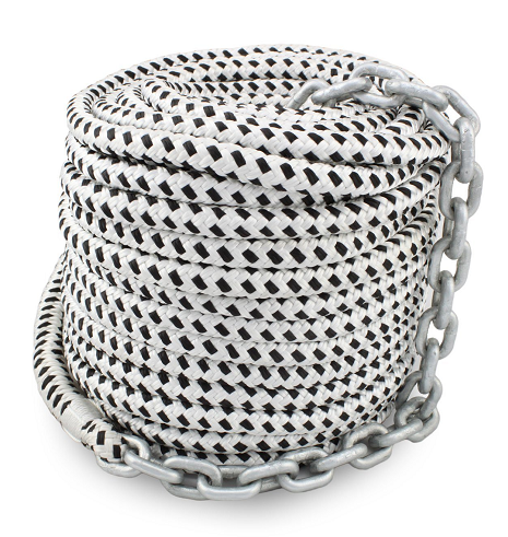 1/2*150' double braided anchor line with chain