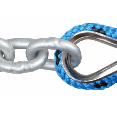High performance nylon/ polyester braided reflective mooring marine chain rope  anchor line