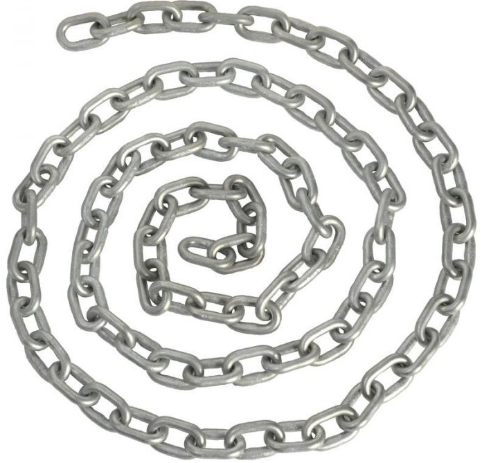 hot sale anchor chain DIN766 short link, hot dipped GALV