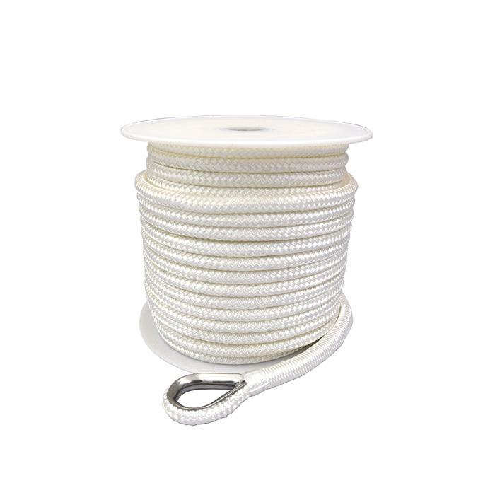 5/8*200 White double braid nylon anchor rope
