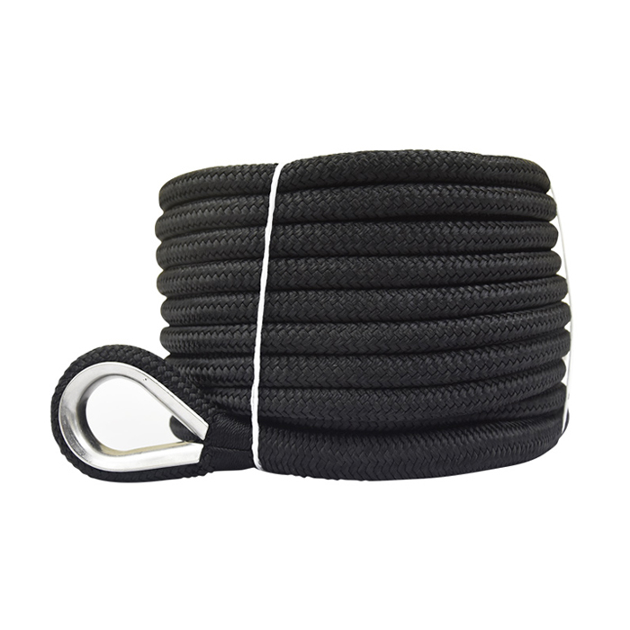 1/2*150 Black Double Braided Nylon Anchor Rope