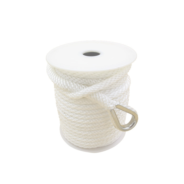 1/2*50 White Polypropylene Solid Braided Anchor Rope
