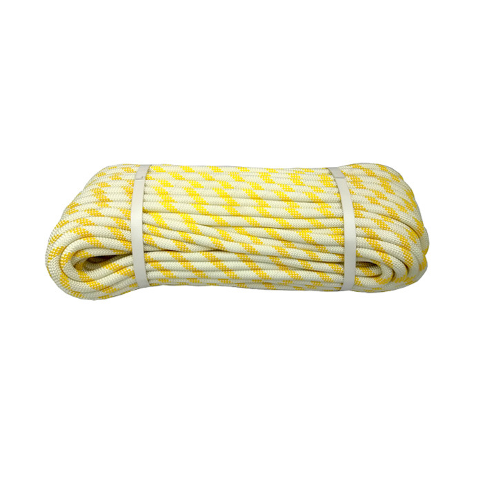 Yellow/White Braided Kernmantle Climbing Rope - Static Rope