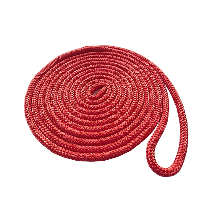 3/8*25 Red Double Braided Polyester Dock Rope