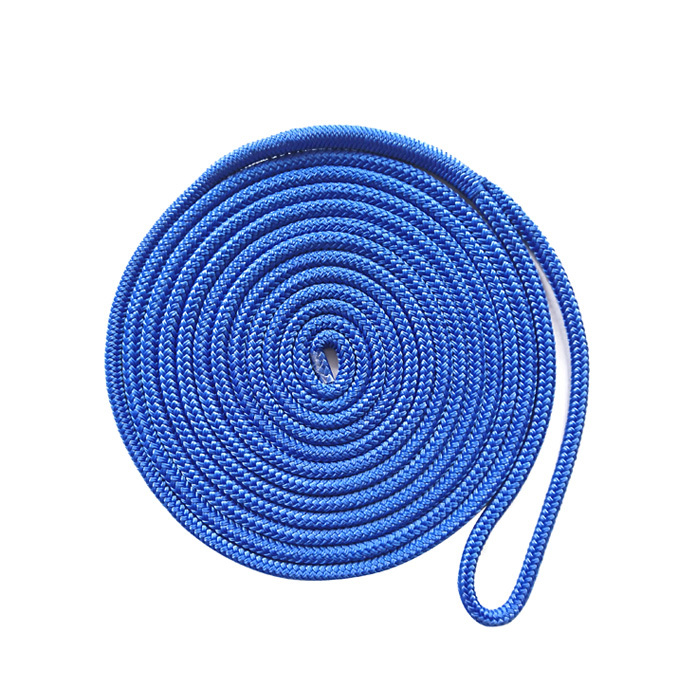1/2*15 Blue Polyester Double Braided Dock Rope marine rope