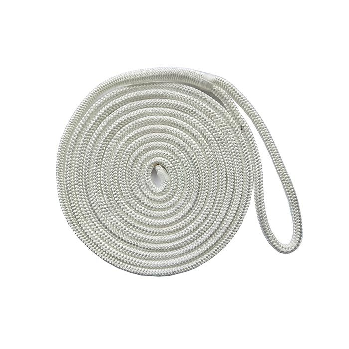 1/2*20 White Double Braided Nylon Dock Rope