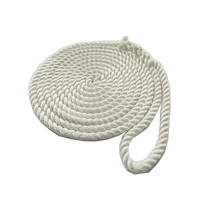 1/2*25 White 3 Strand Twisted Nylon Dock Rope marine rope