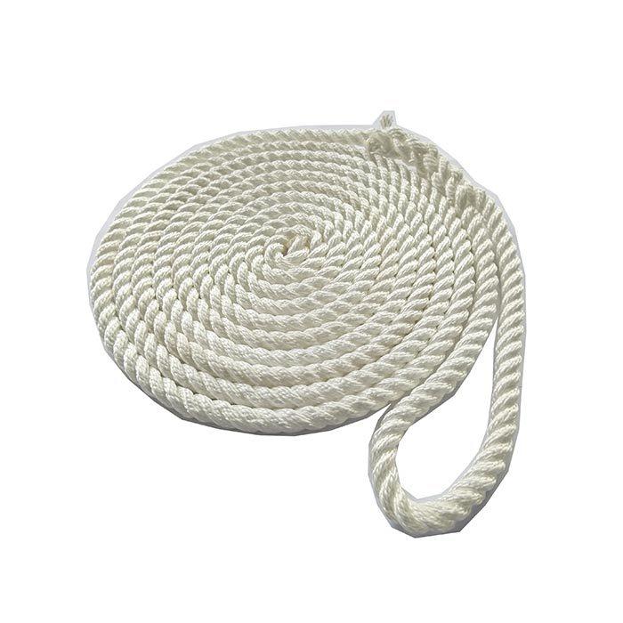 1/2*25 White 3 Strand Twisted Nylon Dock Rope marine rope
