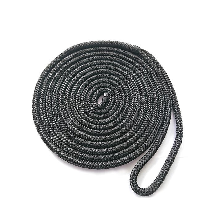 3/8*20 Black Double Braided Nylon Polyester Dock Rope