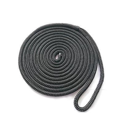 3/8*20 Black Double Braided Nylon Polyester Dock Rope