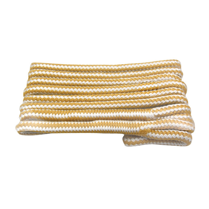 Gold/White Double Braided Nylon marine   Fender rope