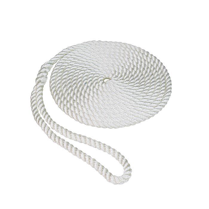 white 3/8*6 3-strand Twisted fender rope