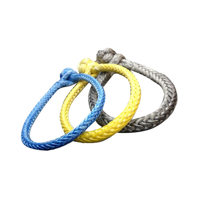 UHMWPE Grey Yellow Blue Braided Soft Shackle