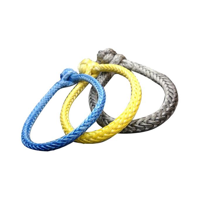 UHMWPE Grey Yellow Blue Braided Soft Shackle