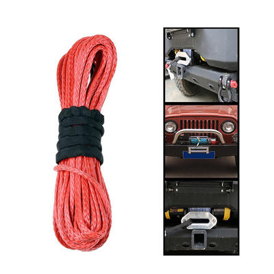 Red UHMWPE 12-Strand Braided Winch Rope