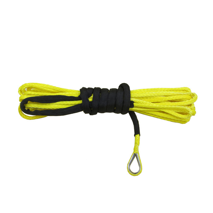 Yellow UHMWPE 12 Strand Braided winch rope  line PRODUCT DESCRIPTION