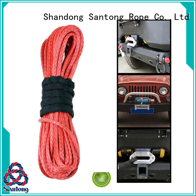 SanTong synthetic winch rope on sale for truck
