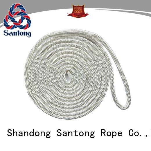 SanTong durable dock mooring lines white for skiing