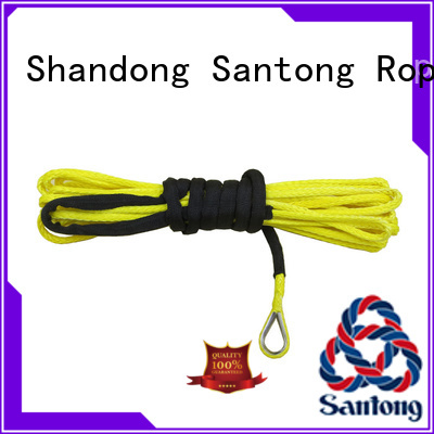 SanTong safety synthetic winch rope directly sale for vehicle