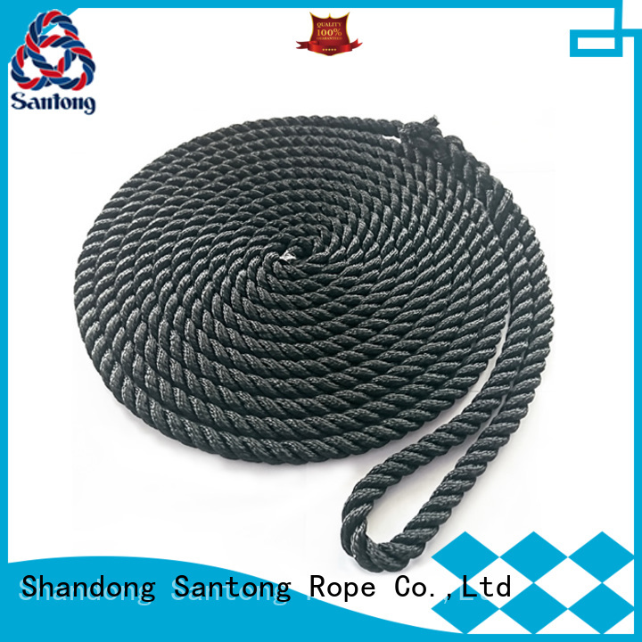 stronger twisted rope polyester factory price for tubing