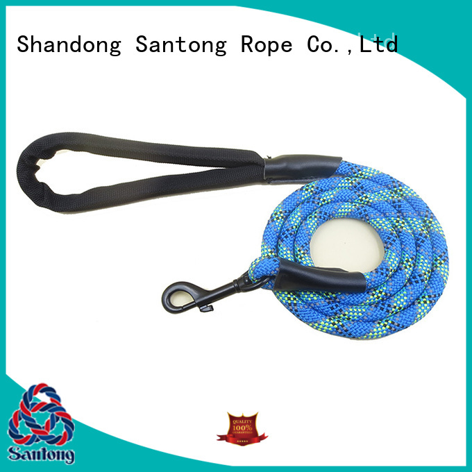 long lasting climbing rope dog leash braided factory price for large dog