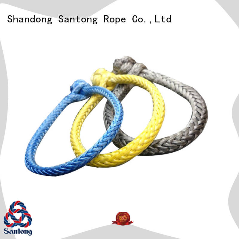 SanTong customized strongest soft shackle uhmwpe for outdoor