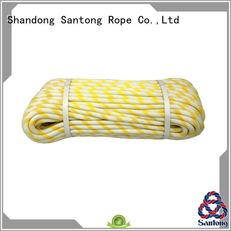 SanTong yellowwhite static climbing rope customized for climbing