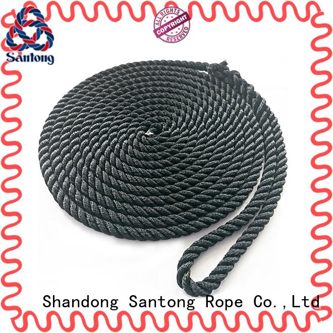 SanTong blue braided nylon rope wholesale for skiing