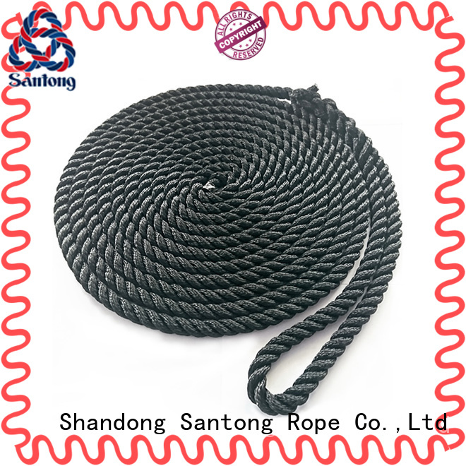 SanTong blue braided nylon rope wholesale for skiing