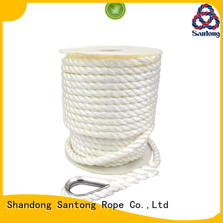SanTong durable polyester rope at discount for saltwater