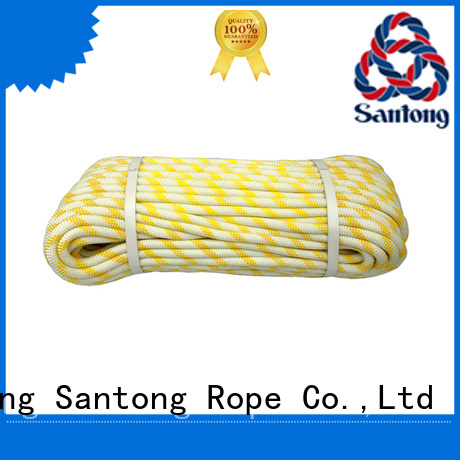 SanTong abrasion resistance static climbing rope customized for abseiling