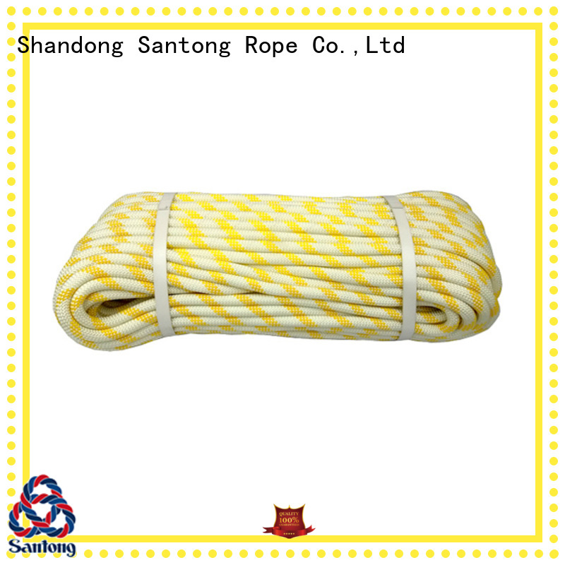 SanTong yellowwhite static climbing rope customized for caving