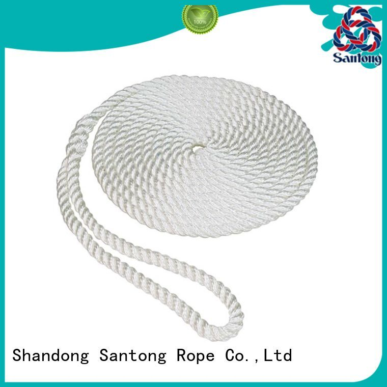 twisted nylon rope with good price for prevent damage from jetties SanTong