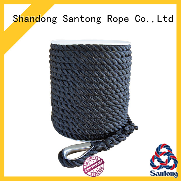 SanTong braided boat anchor rope factory price for saltwater