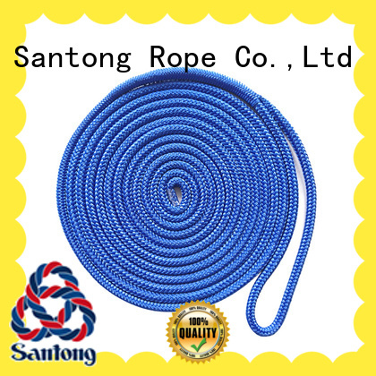 mooring braided nylon rope red for tubing SanTong