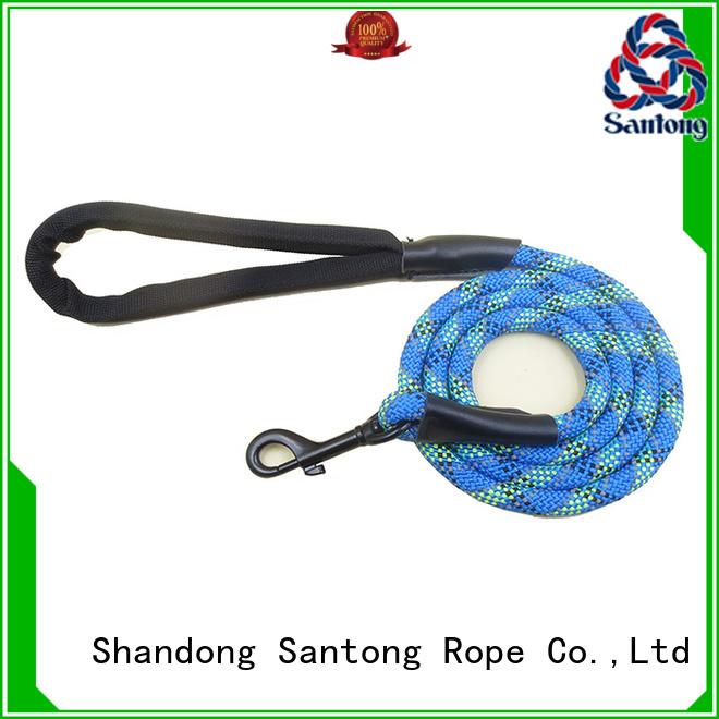 SanTong durable braided dog leash nylon lead for medium dog